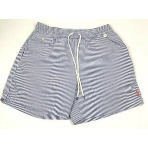 Polo Ralph Lauren Striped Mesh Lined Swim Trunks